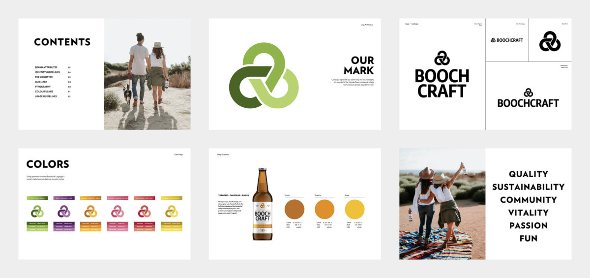 Boochcraft Kombucha Brand Guidelines by Colony