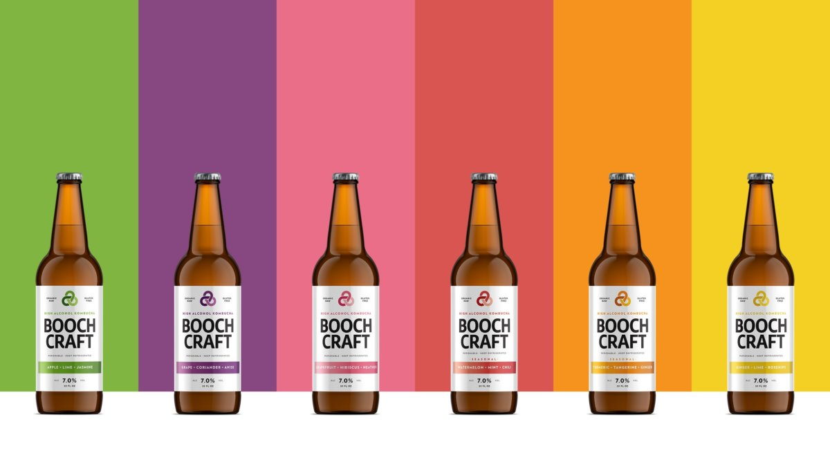 Boochcraft Kombucha Packaging Design by Colony