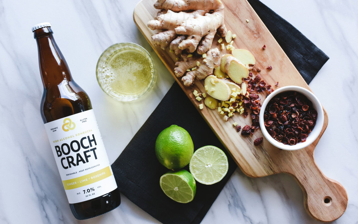 Boochcraft Kombucha Brand Photography by Colony