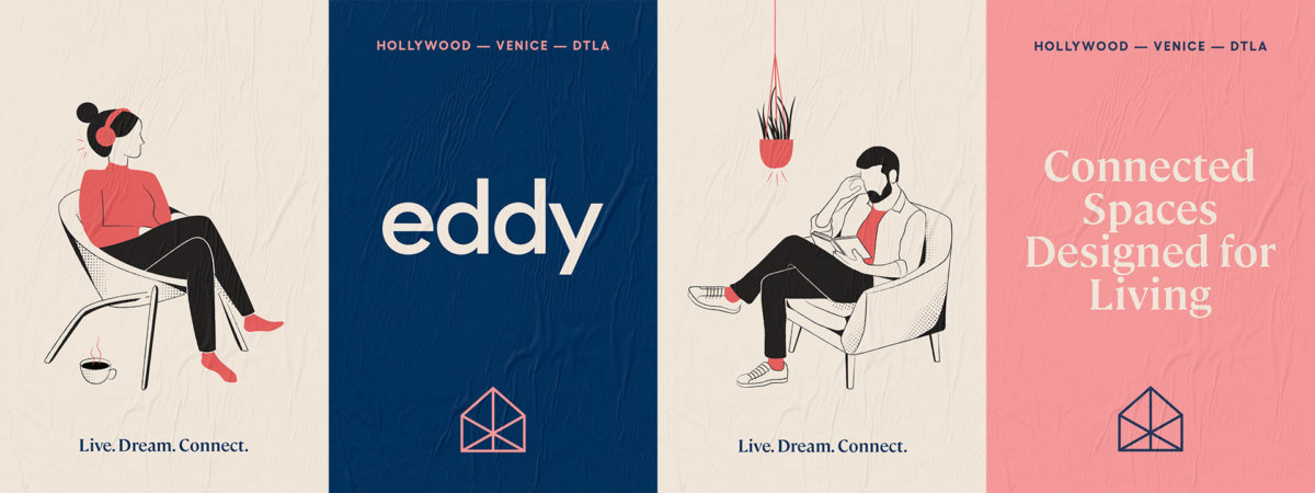 Eddy Co-Living Campaign Art Direction by Colony