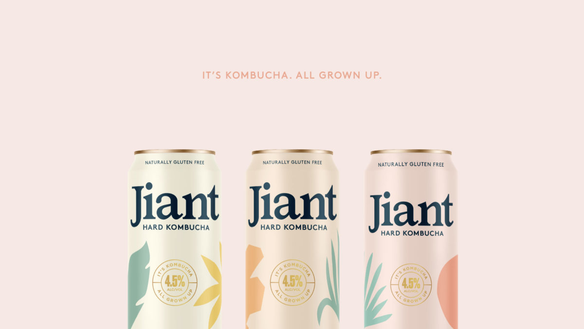 Jiant Kombucha Packaging Design by Colony