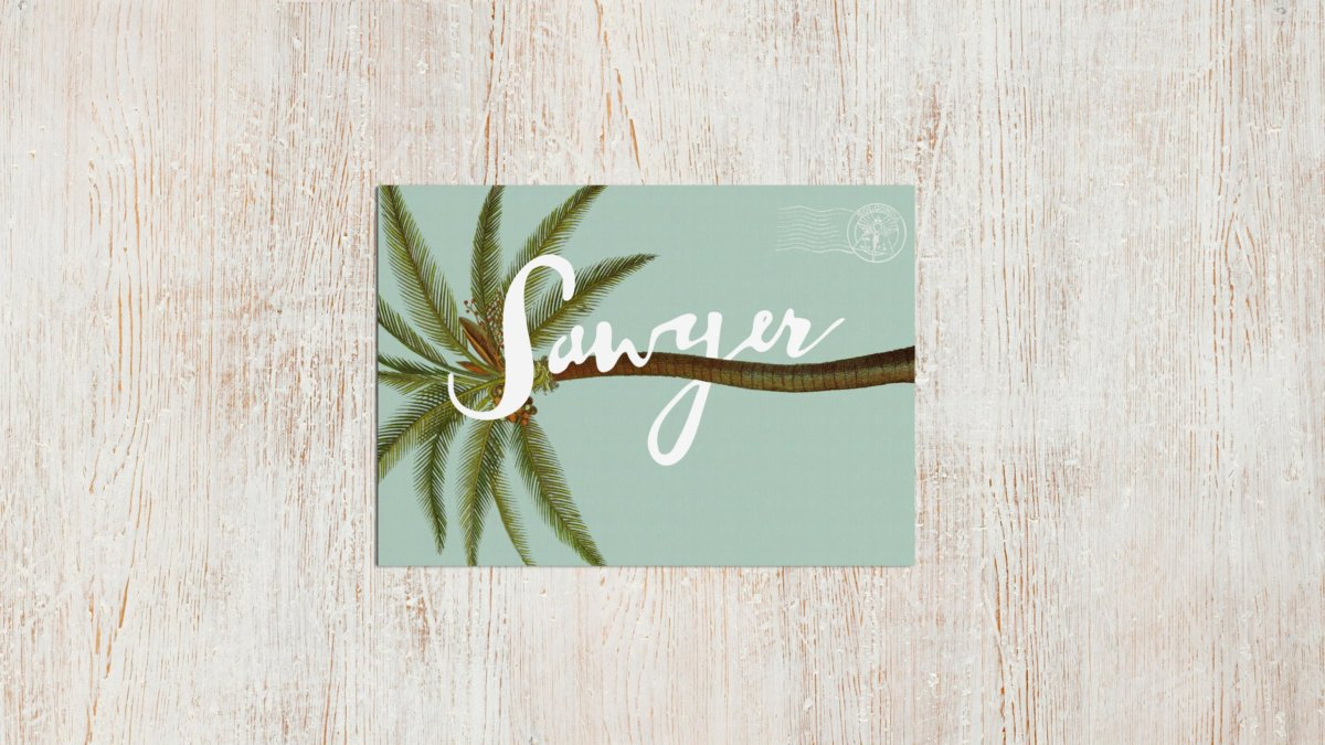 Sawyer Restaurant Postcard Design by Colony