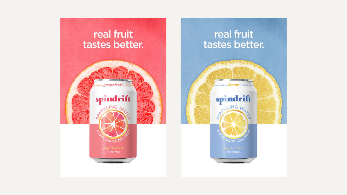 Spindrift Ad Campaign Branding and Design by Colony