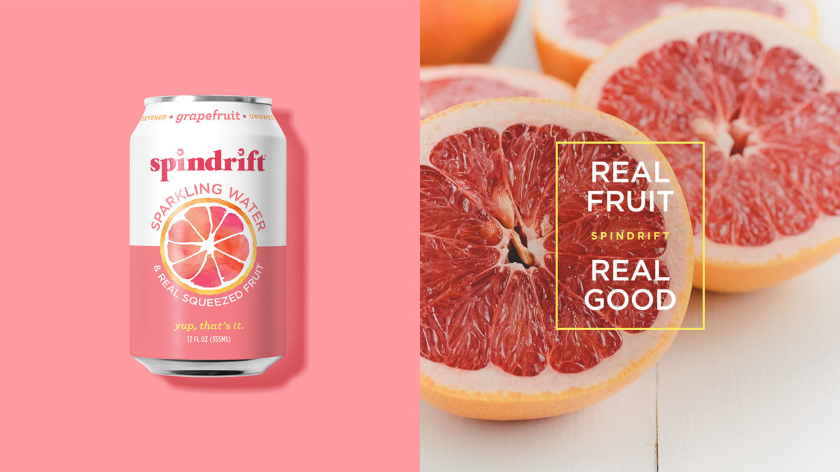 Spindrift Real Fruit Real Good Design by Colony