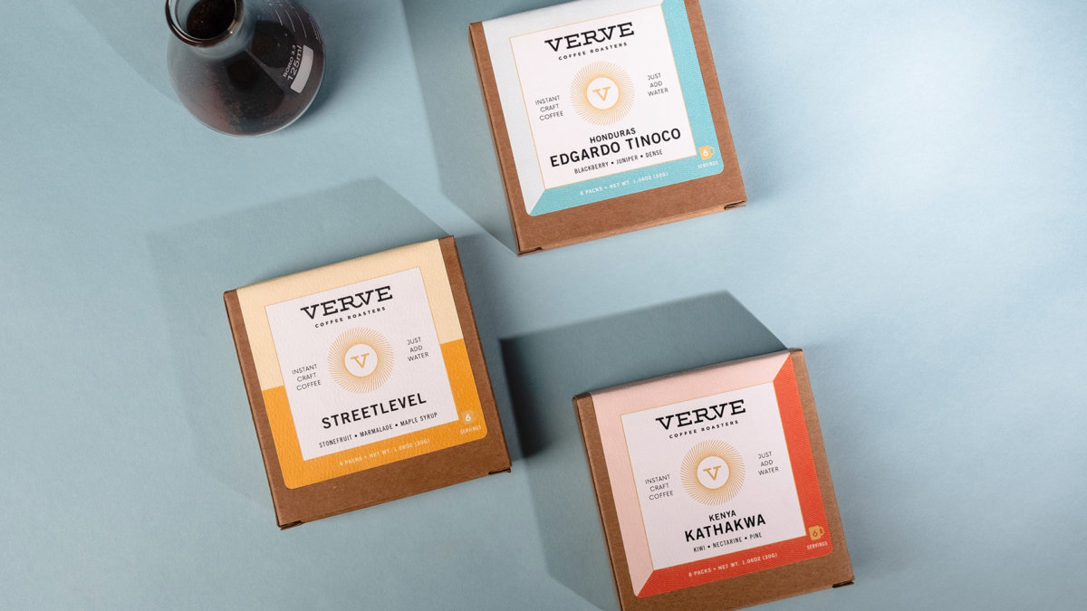 Verve Instant Craft Coffee Packaging Design by Colony